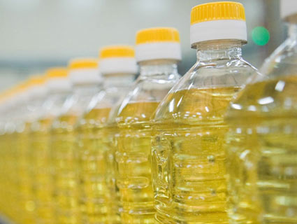 Bottles of vegetable oil